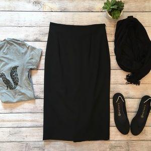 Banana Republic black pencil skirt sz 0